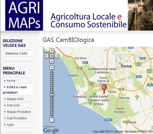 Agricoltura Locale e Consumo Sostenibile - Gas
