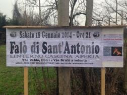 Falò San Antonio 15 Gen. - Indicazioni del Falò